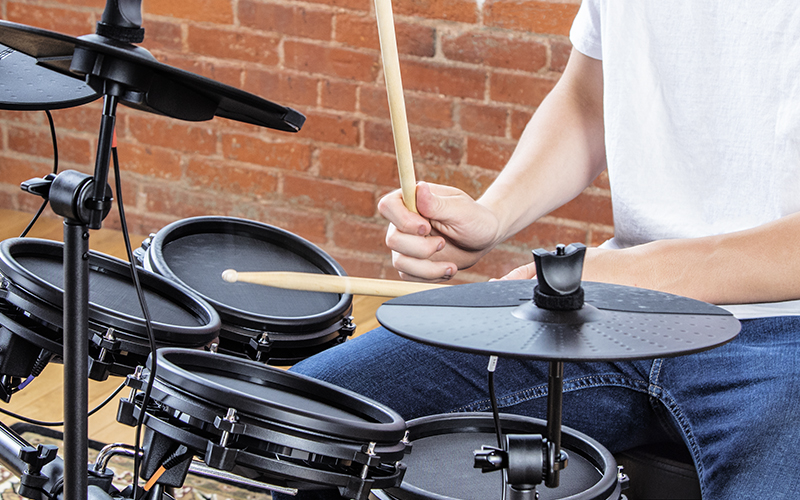 a903baf2d66f The Alesis Nitro Mesh is a complete 8-piece electronic drum kit centered  around next-generation Alesis Mesh head drum technology.